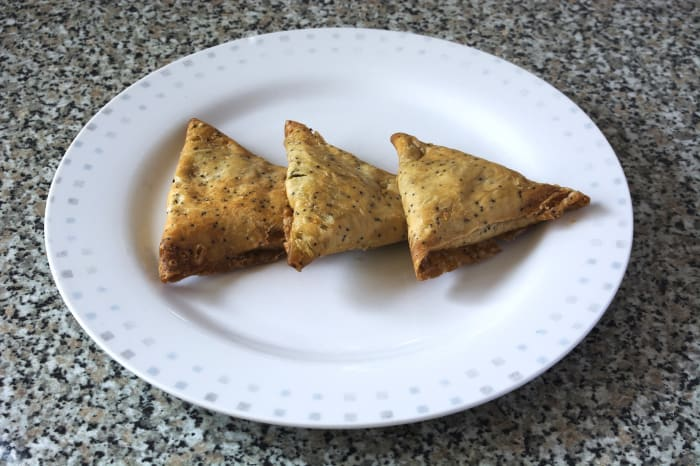 Plain, but perfect, samosas