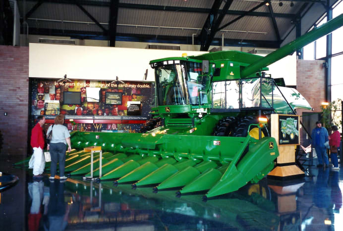 Harvesting equipment on display