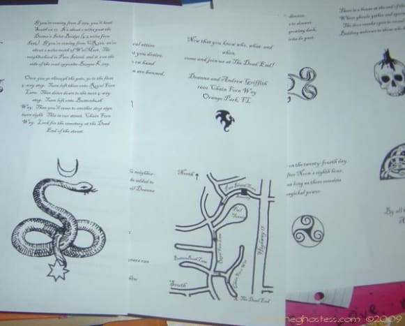 These are some of the pages I created for my invitation booklets.