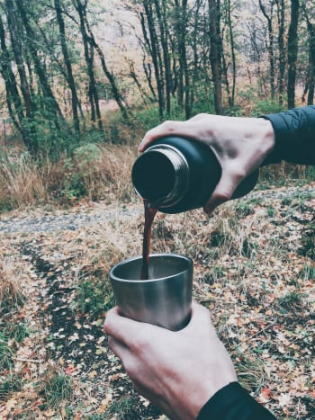 Making coffee in the wood is awesome!