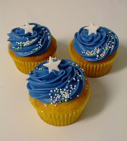 A sprinkle of star dust makes these cupcakes out of this world!