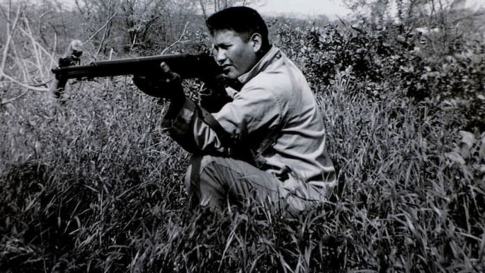 Chester Nez during the war.
