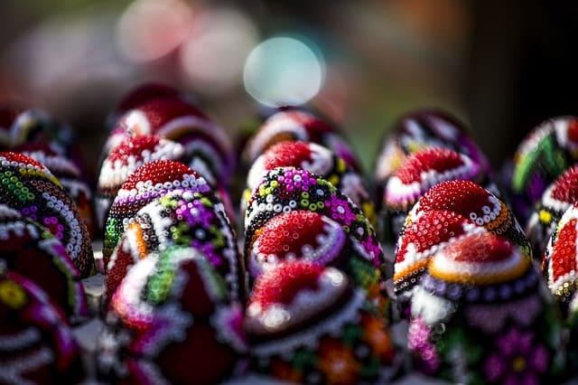 Beaded eggs of Romania.