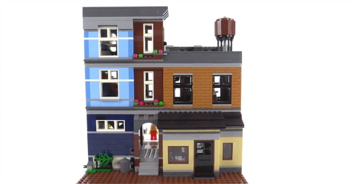 LEGO Creator Detective's Office Modular Building. The back of the building.