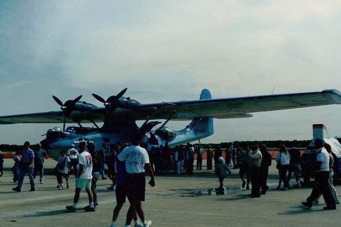 Catalina at Joint Base Andrews, circa 1992.