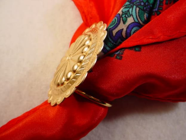 classic gold scarf pin