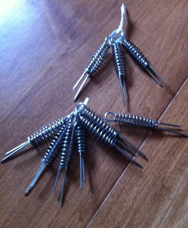 String those corn holders together and keep them organized.