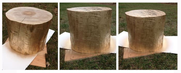 how-to-make-your-own-gold-tree-stump-table