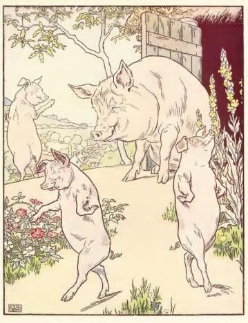 Mummy and three little pigs