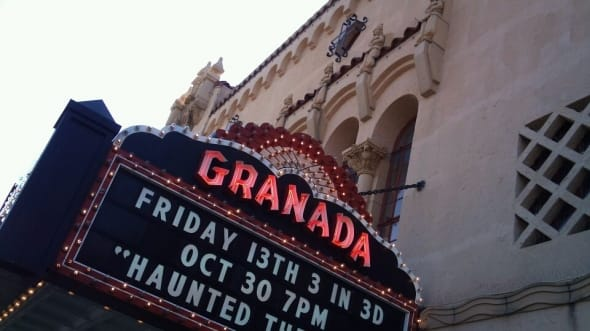 Marquee of the Granada Theatre, which opened in 1929.