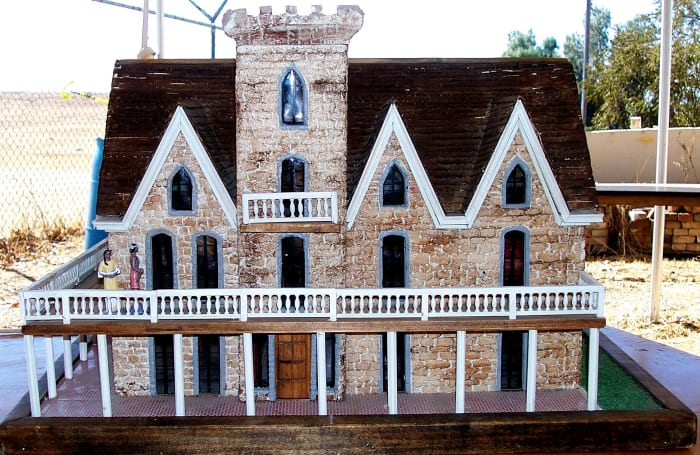 This model of the original stone house built by John Marsh offers a better view of what it looked like than was available of the actual home.