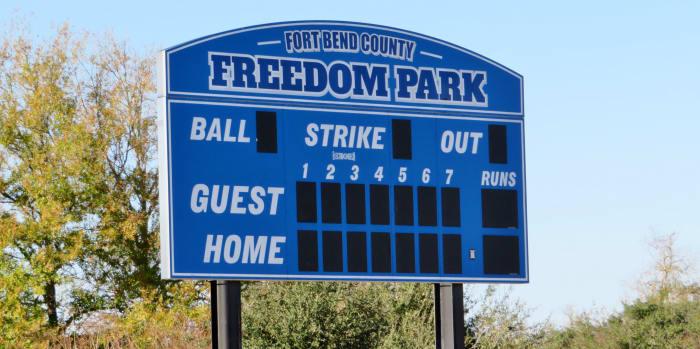 Freedom Park Scoreboard