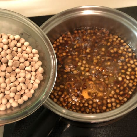 Cook the tapioca balls in boiling water!