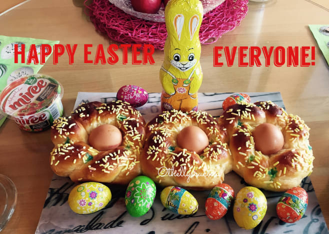 Italian Easter bread 2020 baked by the author.