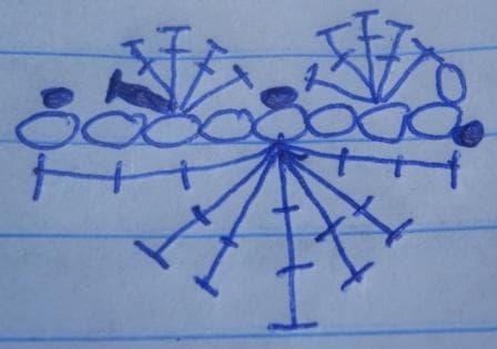 Chain of Hearts Crochet Bracelet Illustrated Pattern