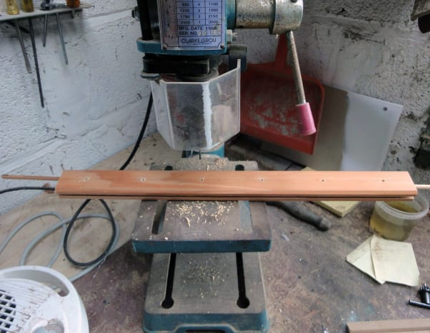 Using a Bench Drill to drill uniform holes