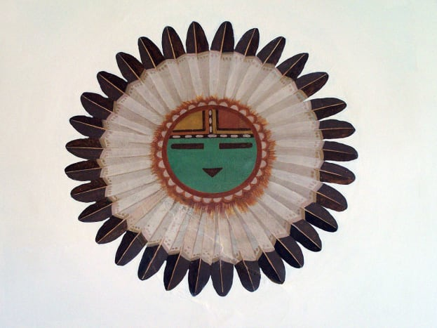 Painting of Tawa, Hopi sun spirit and creator.