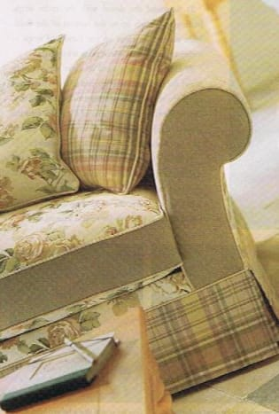 Mix and Match Fabric On Sofa