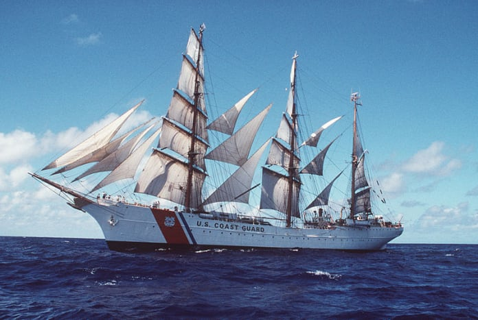 Tall sailing ships: The USCG Eagle barque, photographed off Puerto Rico in 1998 I Credit: Public domain