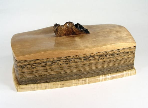 Figured bocote, maple, sculpted