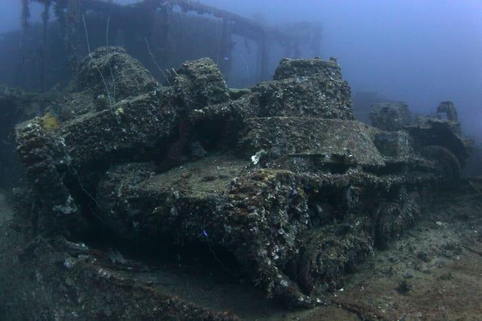 Japanese Sunken Nippo Maru Cargo Ship