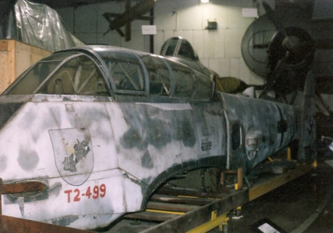 View of Me-410's forward fuselage.  Paul E. Garber Facility, Silver Hill, MD, May 1998.