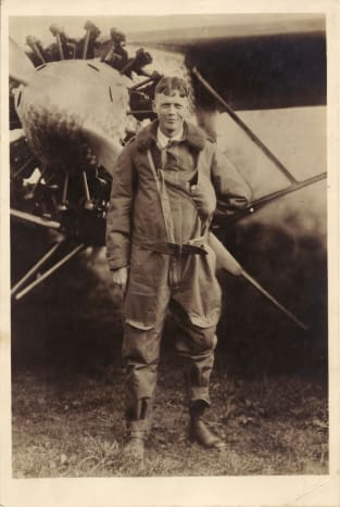 Photo of Charles Lindbergh given to my grandfather