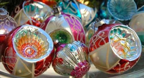 Glass Vintage Christmas Tree Decorations