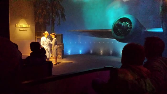 The famous airport scene from Casablanca on The Great Movie Ride.