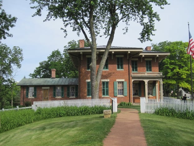 The Ulysses S. Grant House in Galena, a national landmark (1860).