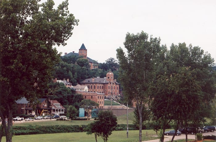 View of the entrance to Galena, Illinois