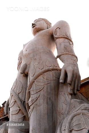 Lord Gomateshwara statue of Jain Temple on Vindhyagiri Hill