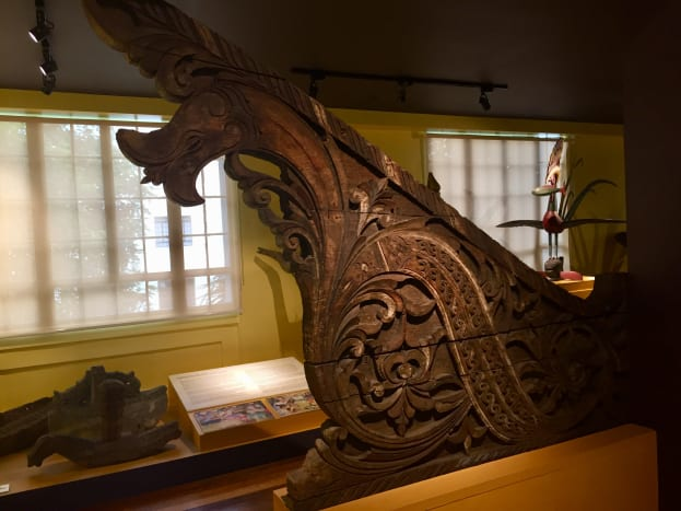 A piece displayed at the Faith, Tradition and Place: Bangsamoro Art from the National Ethnographic Collection