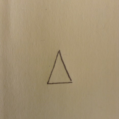 Start with a triangle for her pointed hat.