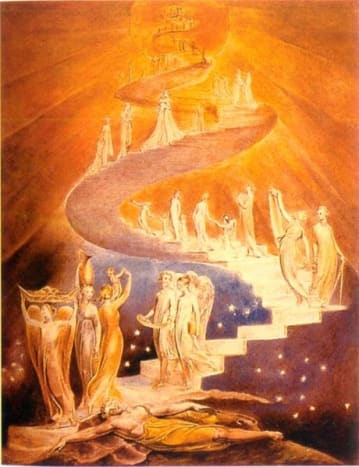 Jacob's Ladder by William Blake.