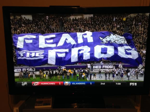 Fear the Frog in the Student Section