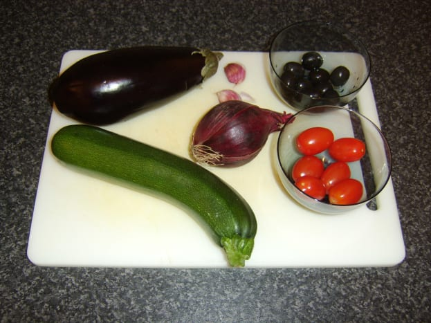 Selection of Mediterranean vegetables for roasting