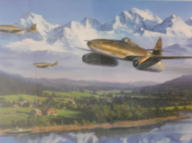 Photo of a painting on display at The Freedom Museum, Manassas Airport.  Photo taken in 2015.