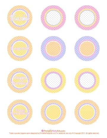 Free pink, orange, purple and yellow polka dot