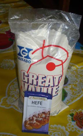 Flour and Dried Yeast (Hefe)