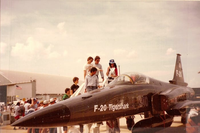 An F-20 on static display at the Andrews AFB Open House, May 1985.