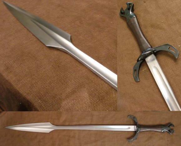 A recreation of a German boar sword