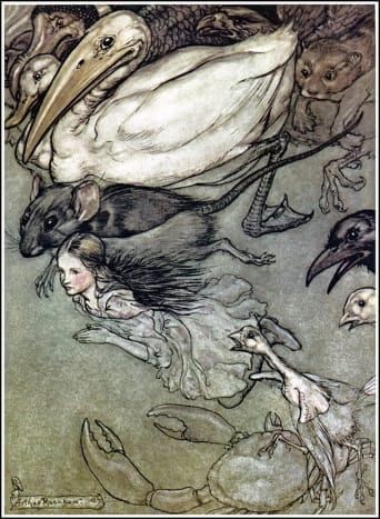 """The Pool of Tears"" by Arthur Rackham"