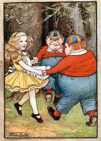 """""""Tweedle Dee and Tweedle Dum"""" by Maria Kirk (1904)"""