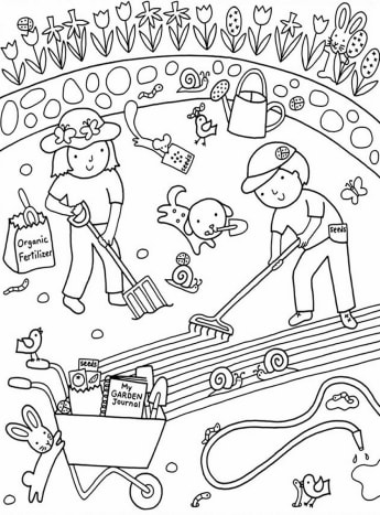 Kids Flower Gardens Colouring Pages Free Coloring Pictures to Print