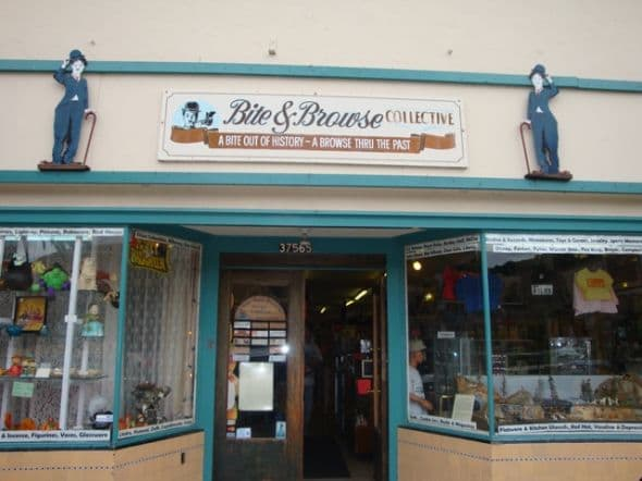 At Bite and Browse, there is always a plate full of homemade cookies for shoppers while they browse through booths full of Depression glass, vintage toys, clothing and collectibles.