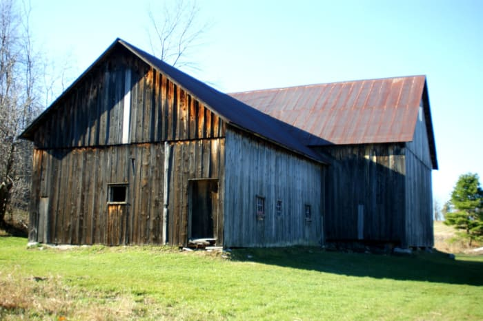 The extension on this particular barn was where cows were milked.