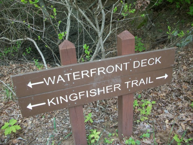 Kingfisher Trail at McDowell Nature Preserve, Charlotte, NC.