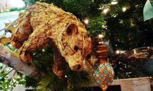 Ornaments on trees for sale at Cornelius Nursery