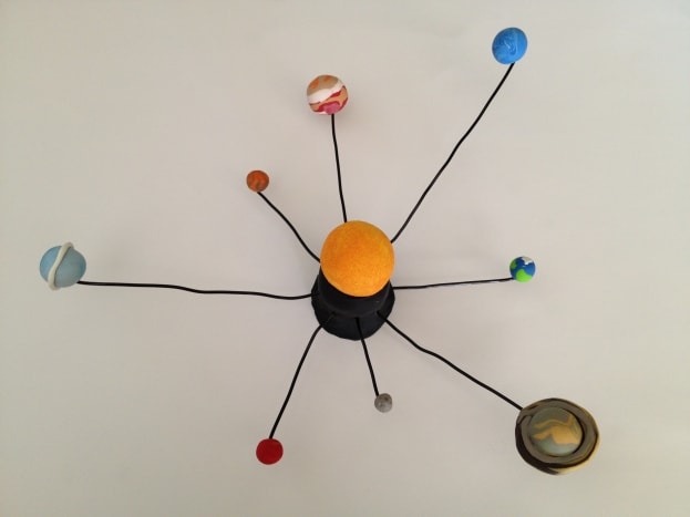 Our mini clay solar system.